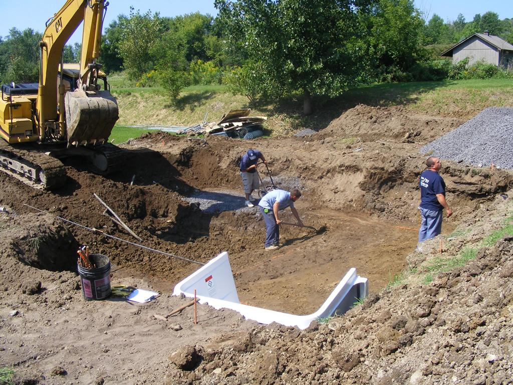 In ground pool construction swan pools and spas for In ground pool contractors